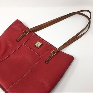 Dooney & Bourke Lexington Handbag Purse Pebble Red